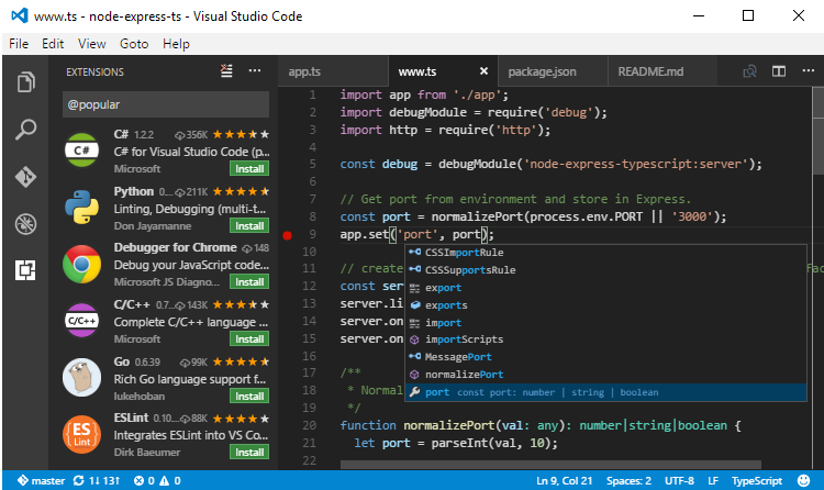 Visual Studio Code 2016